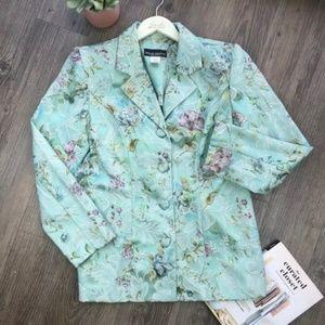 Wear Abouts Blue Floral Blazer Size 12
